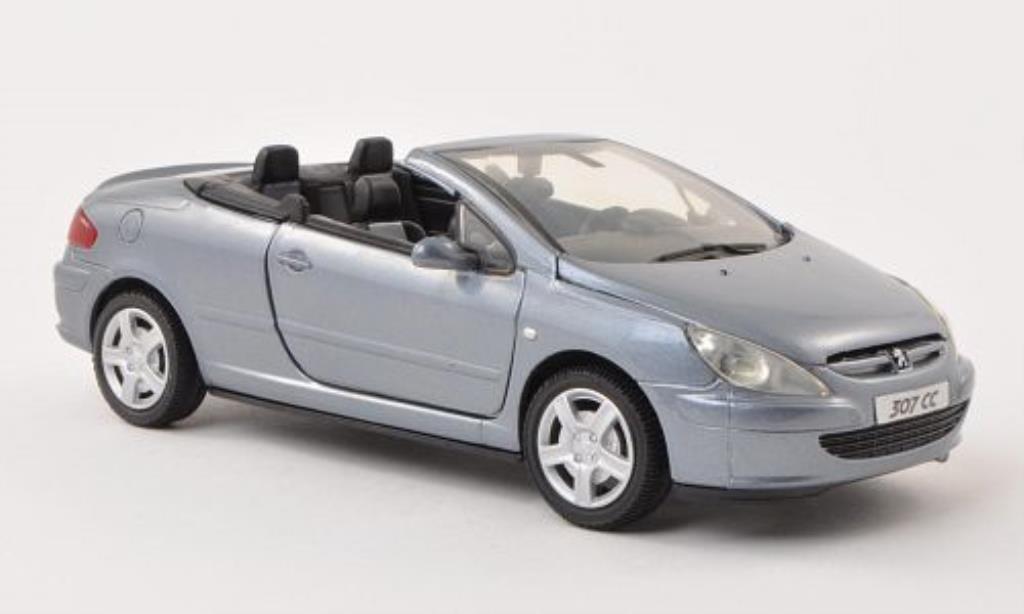 Peugeot 307 CC 1/24 Motormax grise-bleu miniature