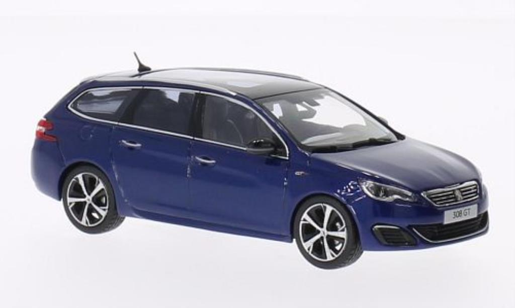 peugeot 308 gt sw sport blue 2014 norev diecast model car. Black Bedroom Furniture Sets. Home Design Ideas