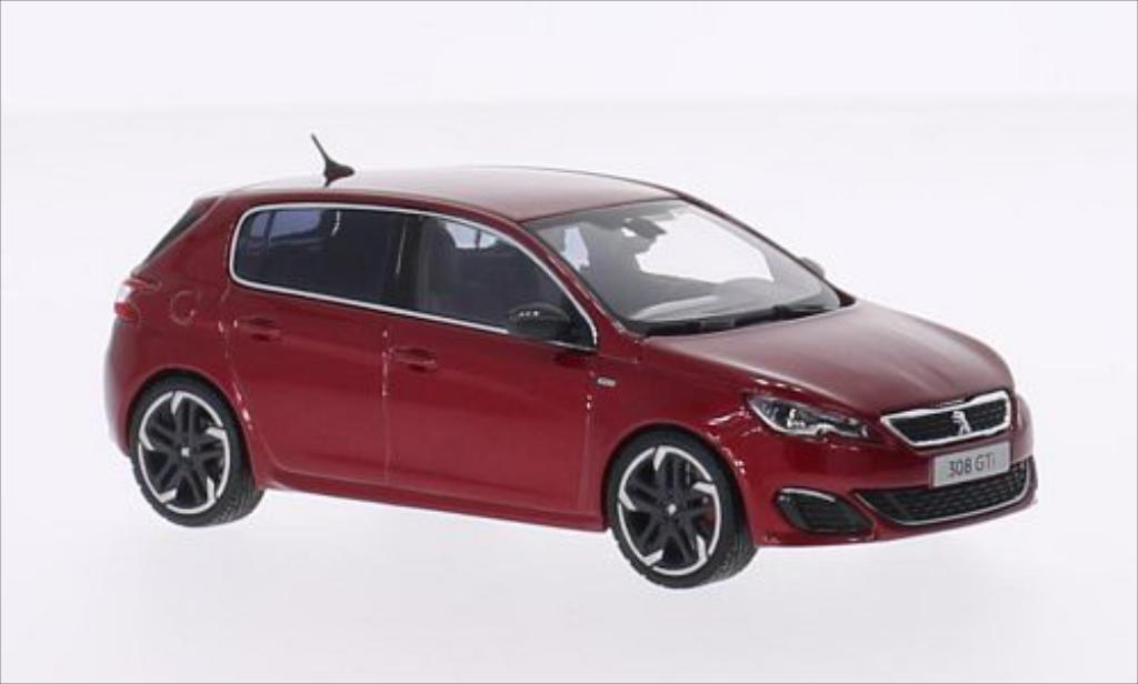 Miniature Peugeot 308 GTI metallic-rouge 2015 Norev. Peugeot 308 GTI metallic-rouge 2015 miniature 1/43