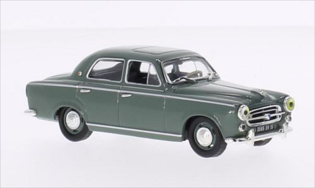 Miniature Peugeot 403 Berline grise 1957 Vitesse. Peugeot 403 Berline grise 1957 miniature 1/43