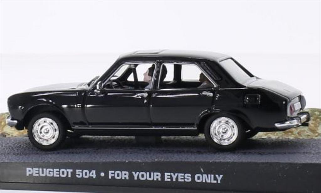 peugeot 504 james bond 007 black mcw diecast model car 1 43 buy sell diecast car on alldiecast. Black Bedroom Furniture Sets. Home Design Ideas