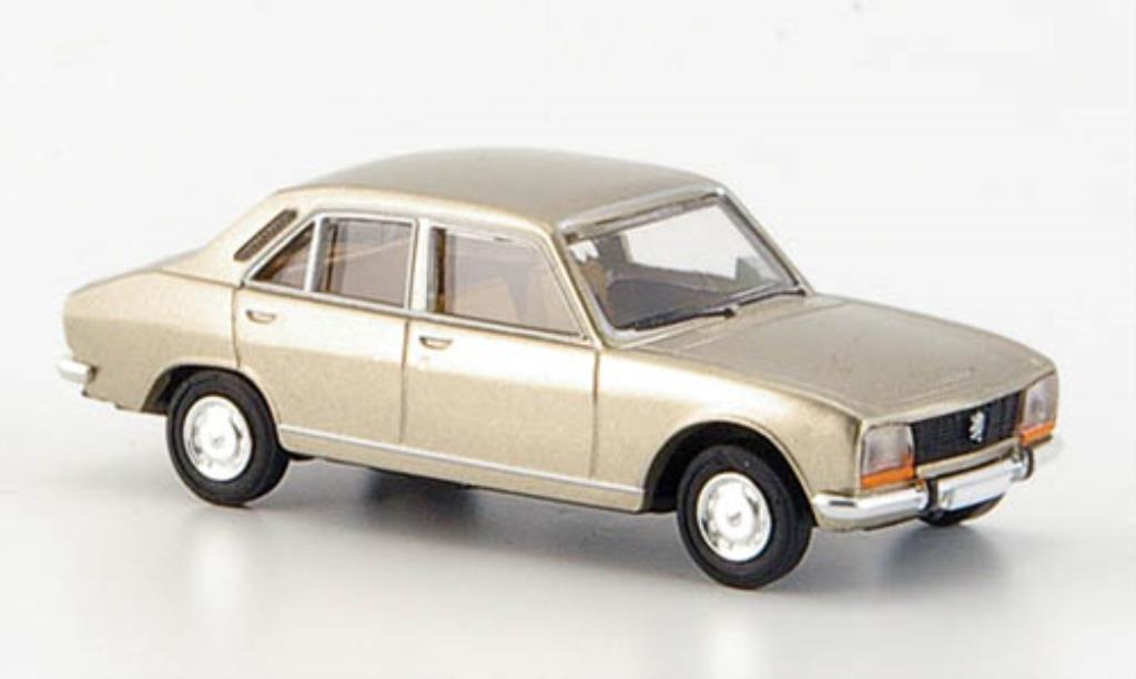 Peugeot 504 Berline 1/87 Brekina marron Limousine miniature