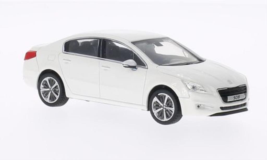 peugeot 508 berline miniature blanche 2010 norev 1 43. Black Bedroom Furniture Sets. Home Design Ideas