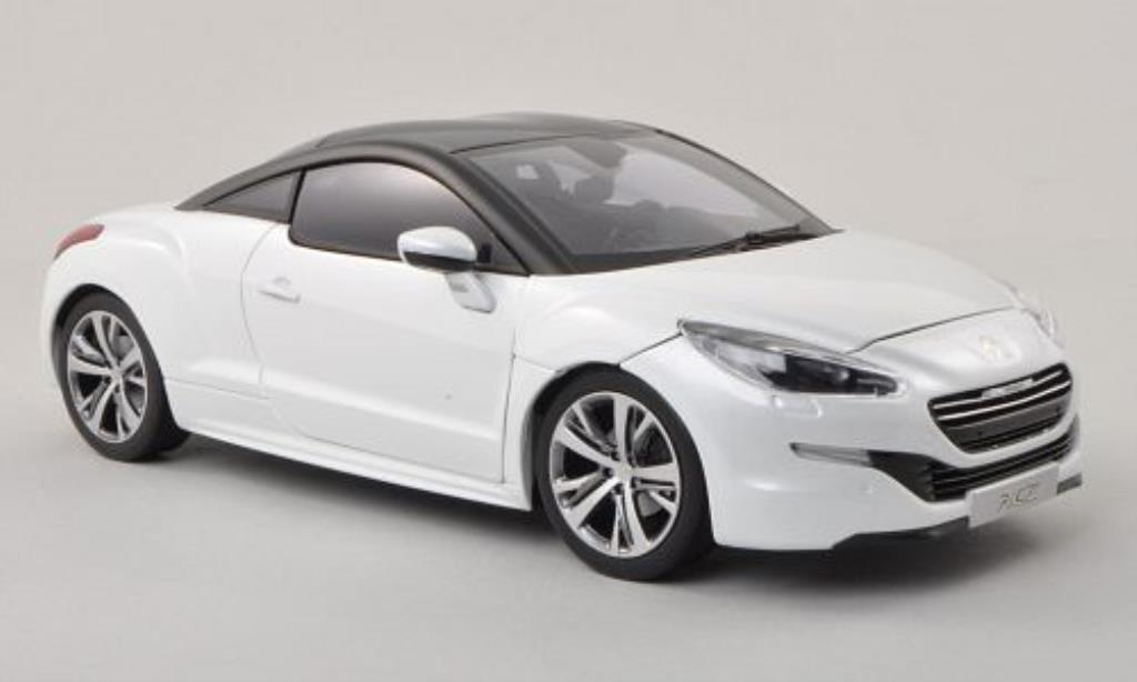 peugeot rcz miniature blanche matt noire noire 2013 norev 1 18 voiture. Black Bedroom Furniture Sets. Home Design Ideas