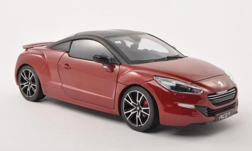 peugeot rcz miniature r rouge matt noire 2013 norev 1 18 voiture. Black Bedroom Furniture Sets. Home Design Ideas