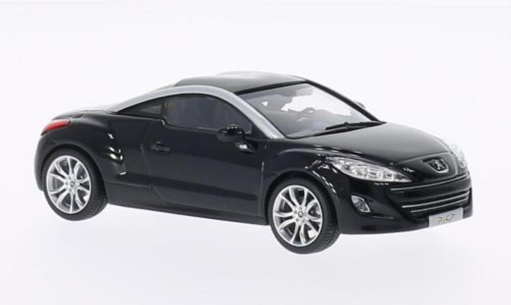 peugeot rcz miniature noire 2010 norev 1 43 voiture. Black Bedroom Furniture Sets. Home Design Ideas