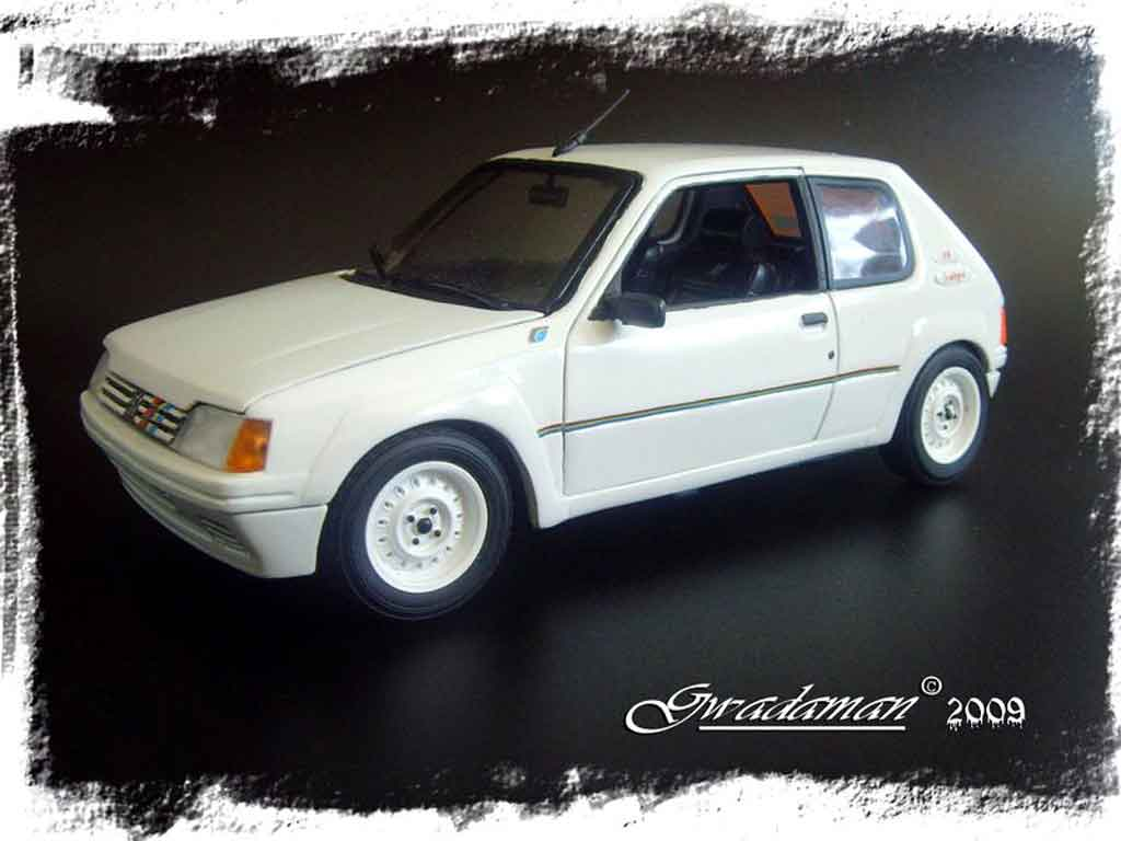 Peugeot 205 Rallye 1/18 Solido base gti tuning diecast model cars
