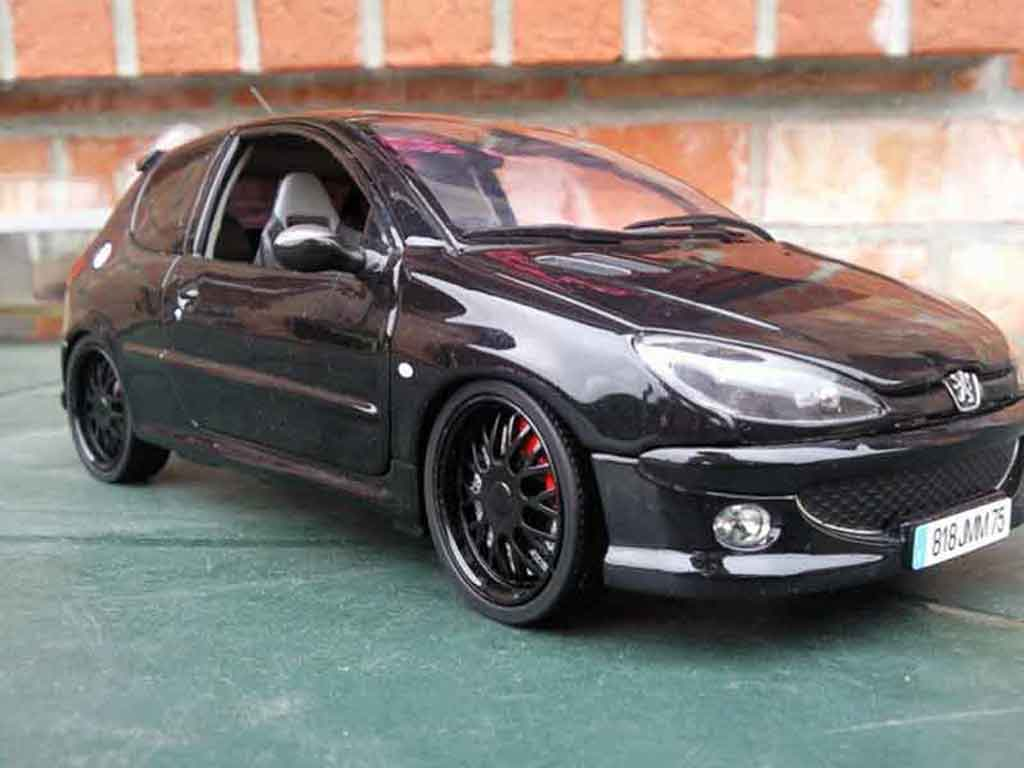 peugeot 206 rc wheels blacks et vitres teintees norev diecast model car 1 18 buy sell diecast. Black Bedroom Furniture Sets. Home Design Ideas