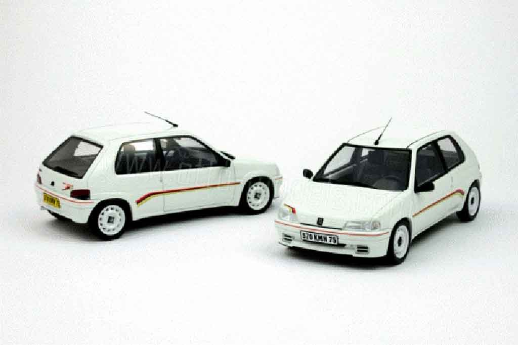 peugeot 106 rallye miniature 1 3 blanche ottomobile 1 18 voiture. Black Bedroom Furniture Sets. Home Design Ideas