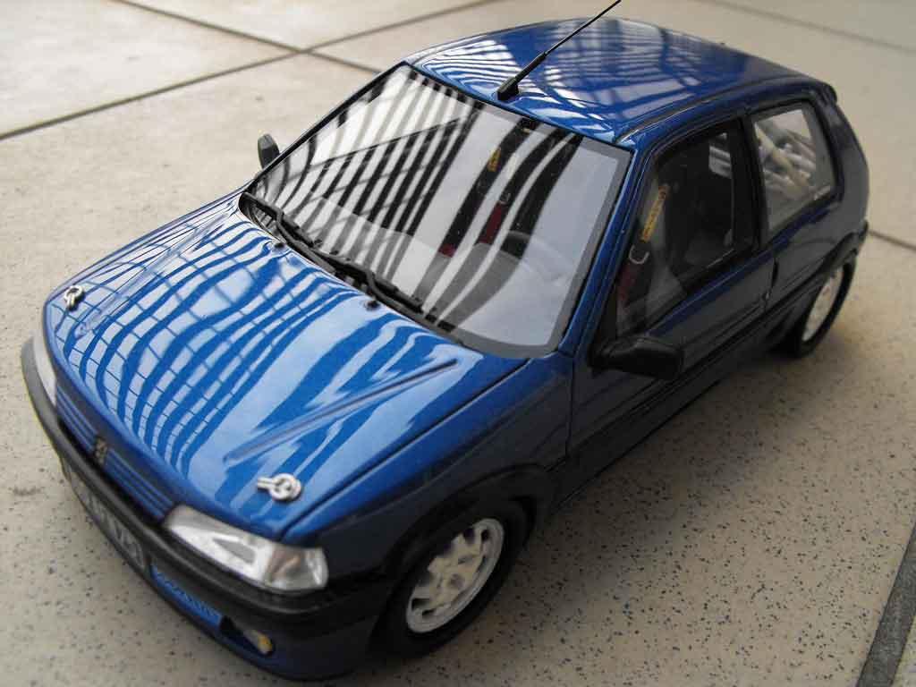 Peugeot 106 XSI 1/18 Ottomobile phase 1 blue jantes 205 gti 1993