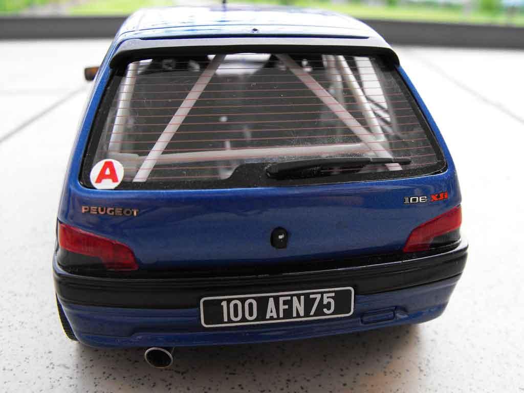 peugeot 106 xsi phase 1 blau felgen 205 gti 1993 ottomobile modellauto 1 18 kaufen verkauf. Black Bedroom Furniture Sets. Home Design Ideas
