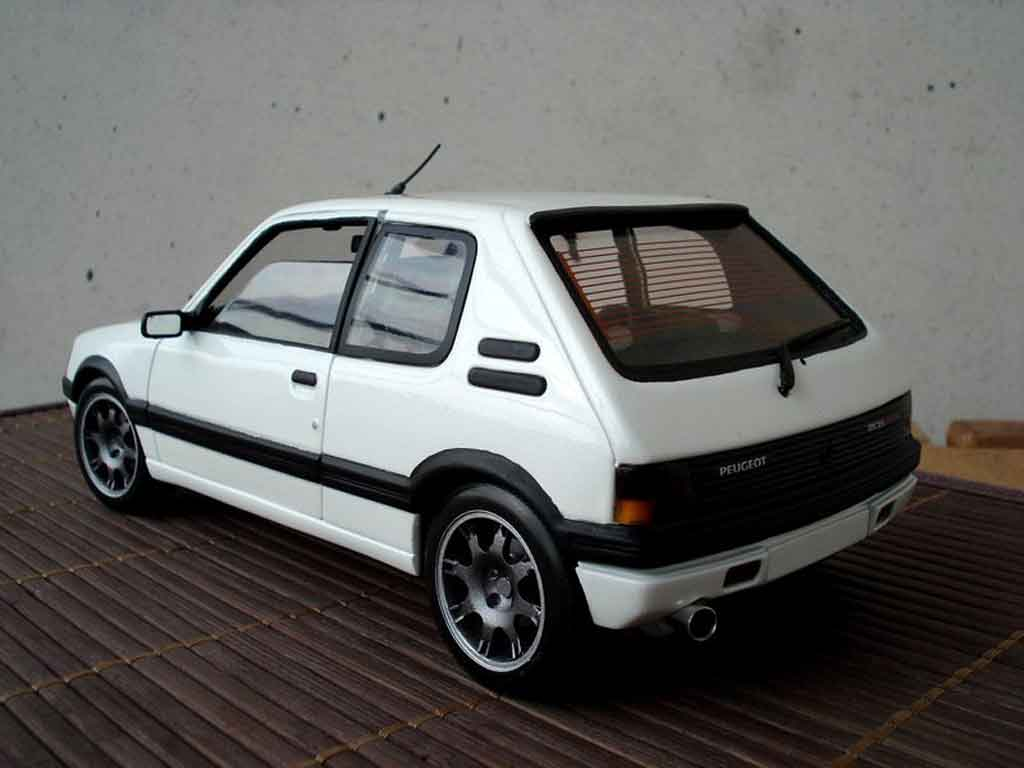 peugeot 205 gti blanco jantes pts solido coches miniaturas 1 18 comprar venta coches. Black Bedroom Furniture Sets. Home Design Ideas