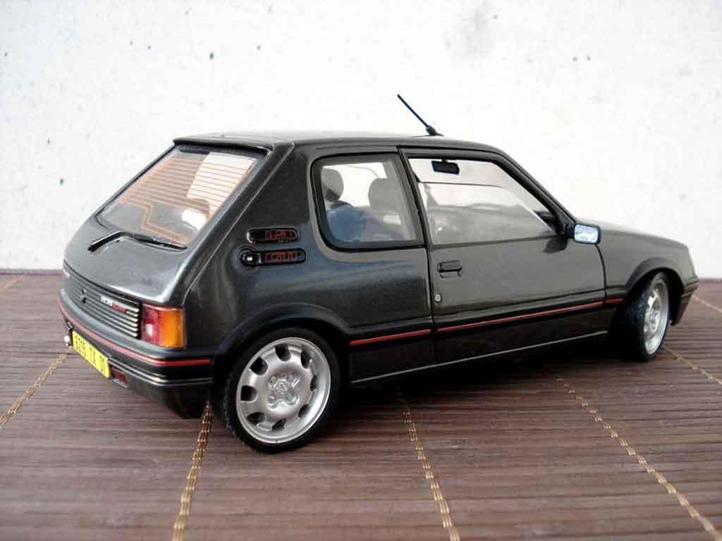 peugeot 205 gti 1 9 gris graphite miniature jantes 15 pouces 309 gti solido 1 18 voiture. Black Bedroom Furniture Sets. Home Design Ideas
