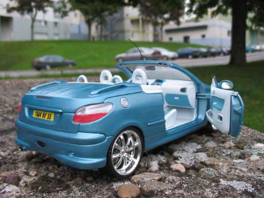 peugeot 206 cc blue wheels chrome solido diecast model car 1 18 buy sell diecast car on. Black Bedroom Furniture Sets. Home Design Ideas