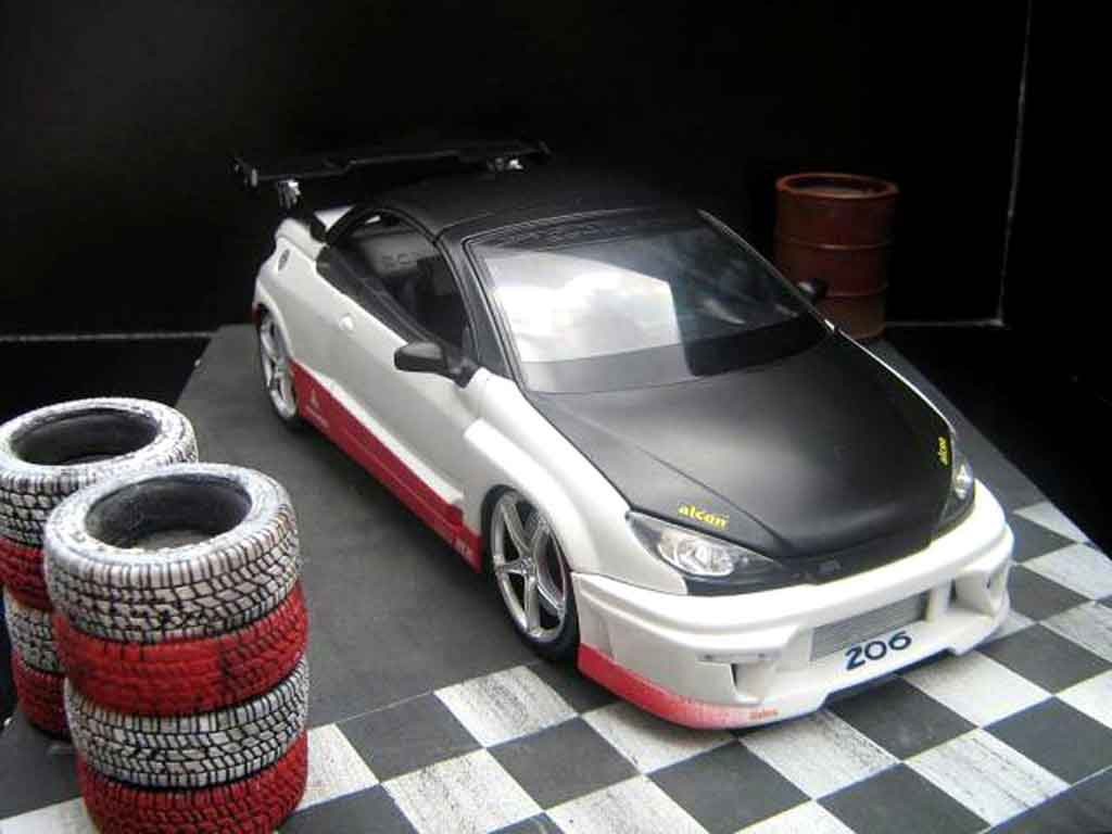 Peugeot 206 CC 1/18 Norev paredech racing tuning diecast model cars