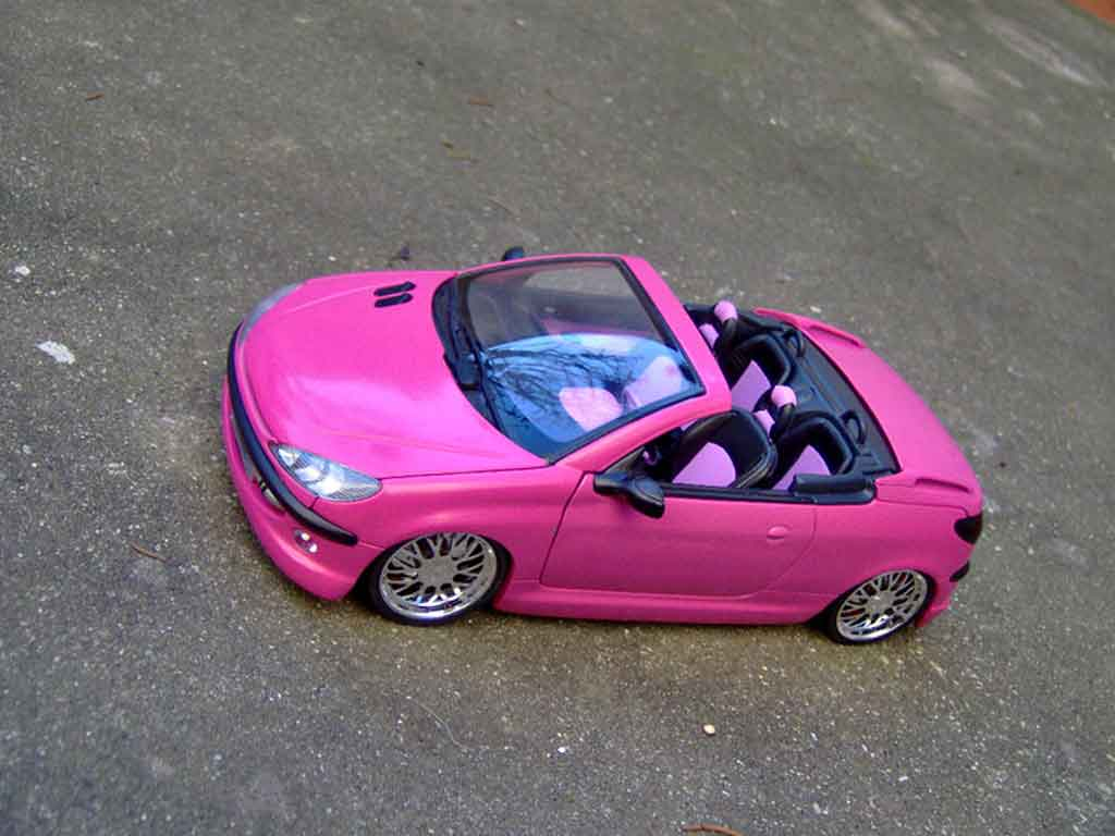 peugeot 206 cc miniature rose satine jantes bbs gate 1 18 voiture. Black Bedroom Furniture Sets. Home Design Ideas