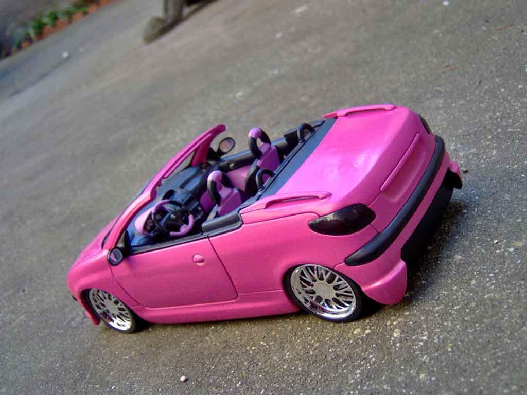 Peugeot 206 CC 1/18 Gate pink satine jantes bbs