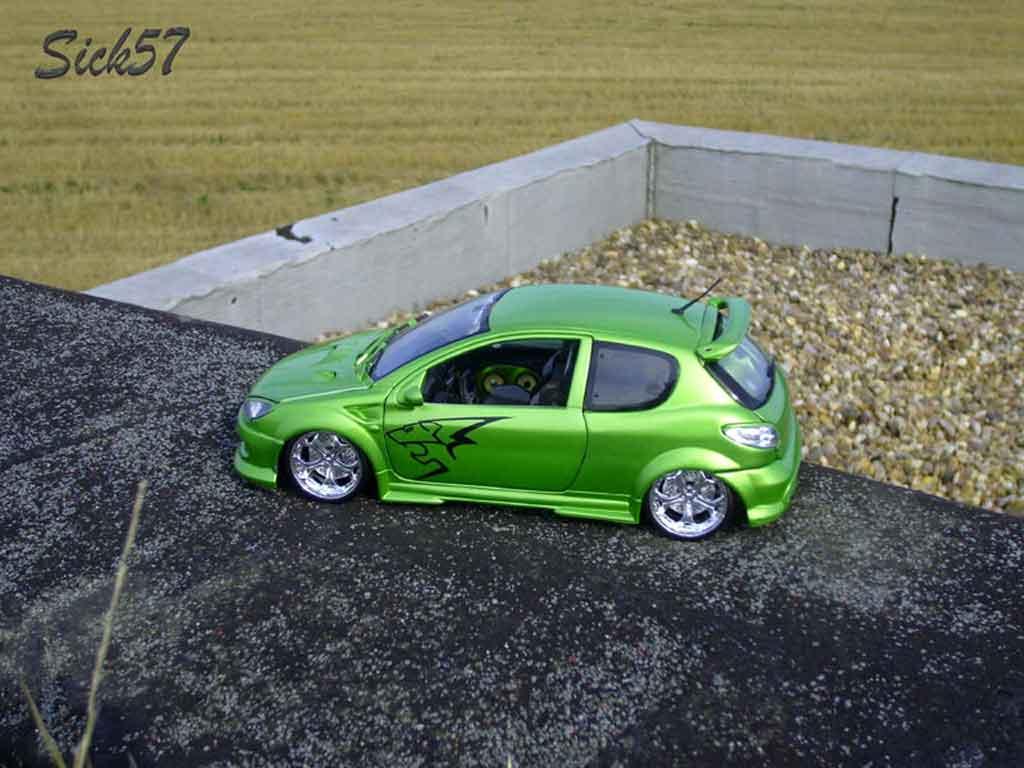 Peugeot 206 RC esquiss auto kiwi tuning Norev. Peugeot 206 RC esquiss auto kiwi miniature miniature 1/18