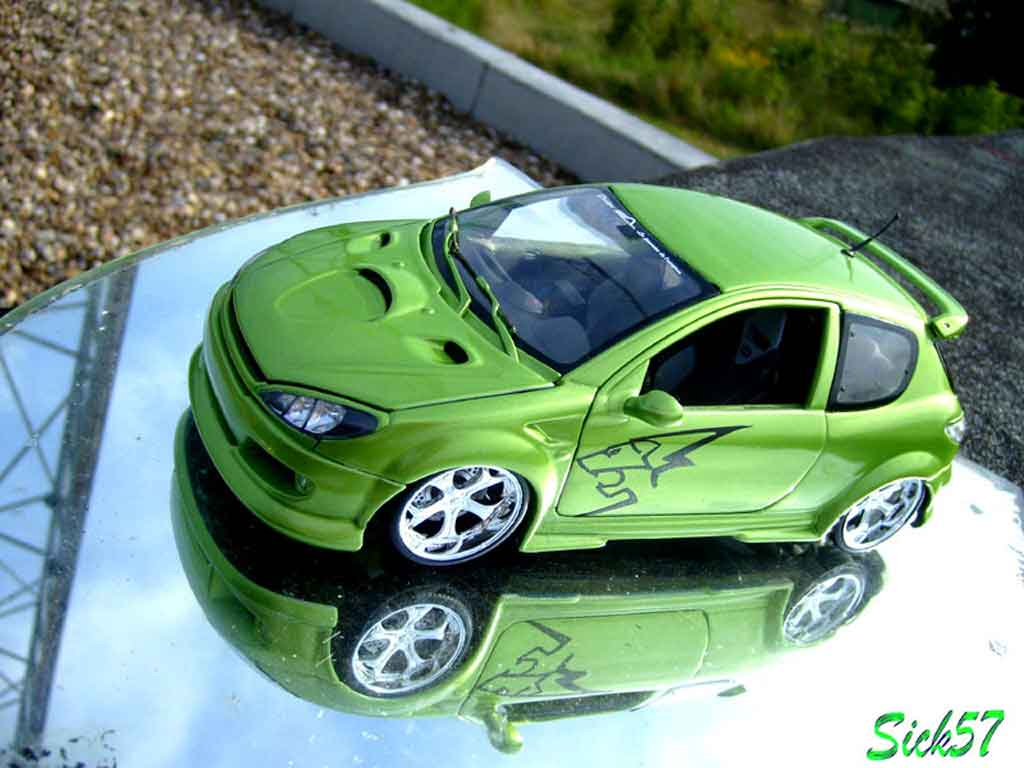 Peugeot 206 RC 1/18 Norev esquiss auto kiwi tuning miniature