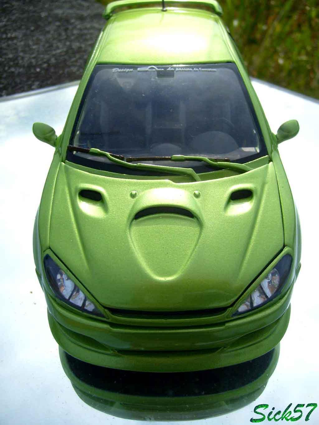 Peugeot 206 RC esquiss auto kiwi tuning Norev. Peugeot 206 RC esquiss auto kiwi miniature auto miniature 1/18