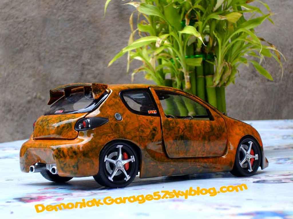 Peugeot 206 WRC street racer tuning Norev. Peugeot 206 WRC street racer miniature modèle réduit 1/18
