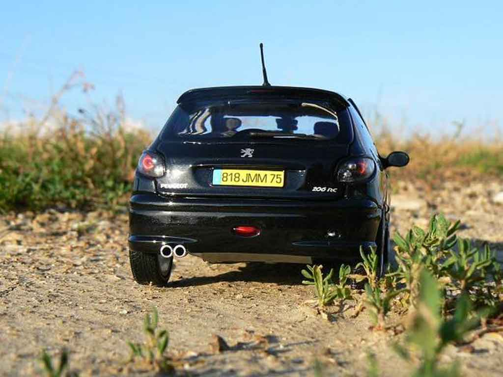 Peugeot 206 RC 1/18 Norev schwarz preparation esquiss auto tuning