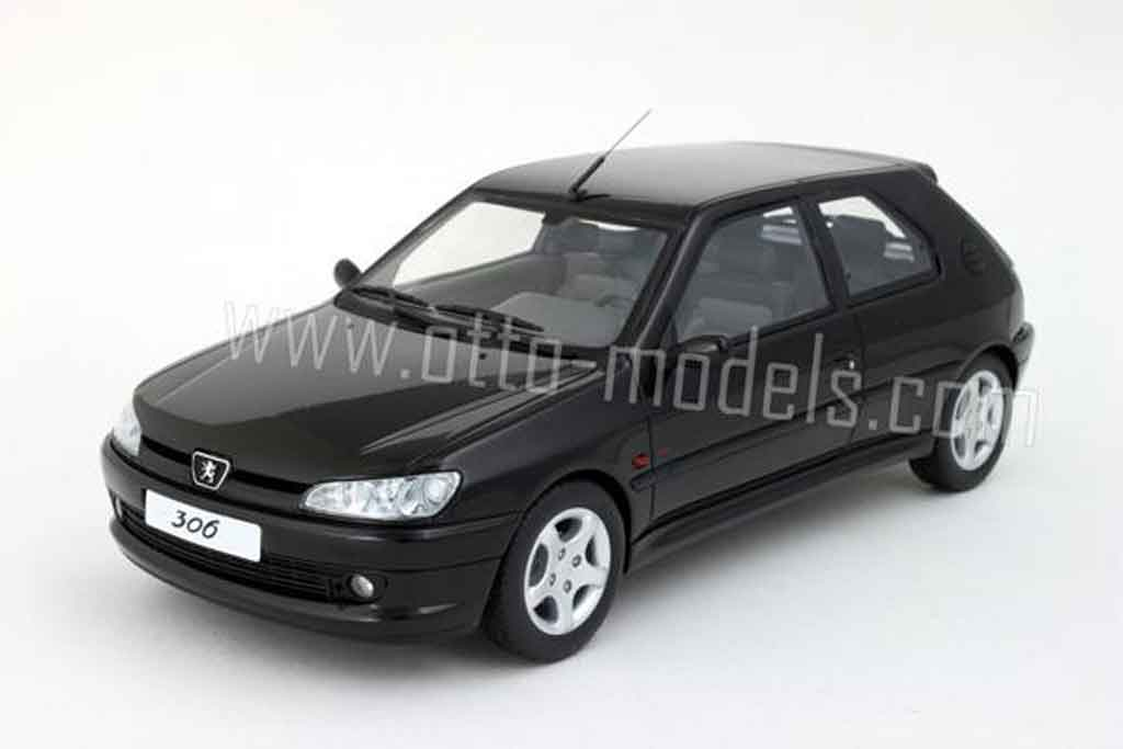 peugeot 306 s16 miniature noire 1998 ottomobile 1 18 voiture. Black Bedroom Furniture Sets. Home Design Ideas