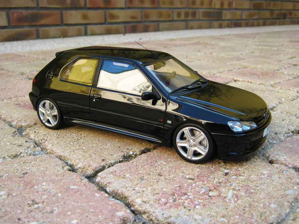 peugeot 306 s16 miniature noire jantes 206 rc ottomobile 1 18 voiture. Black Bedroom Furniture Sets. Home Design Ideas