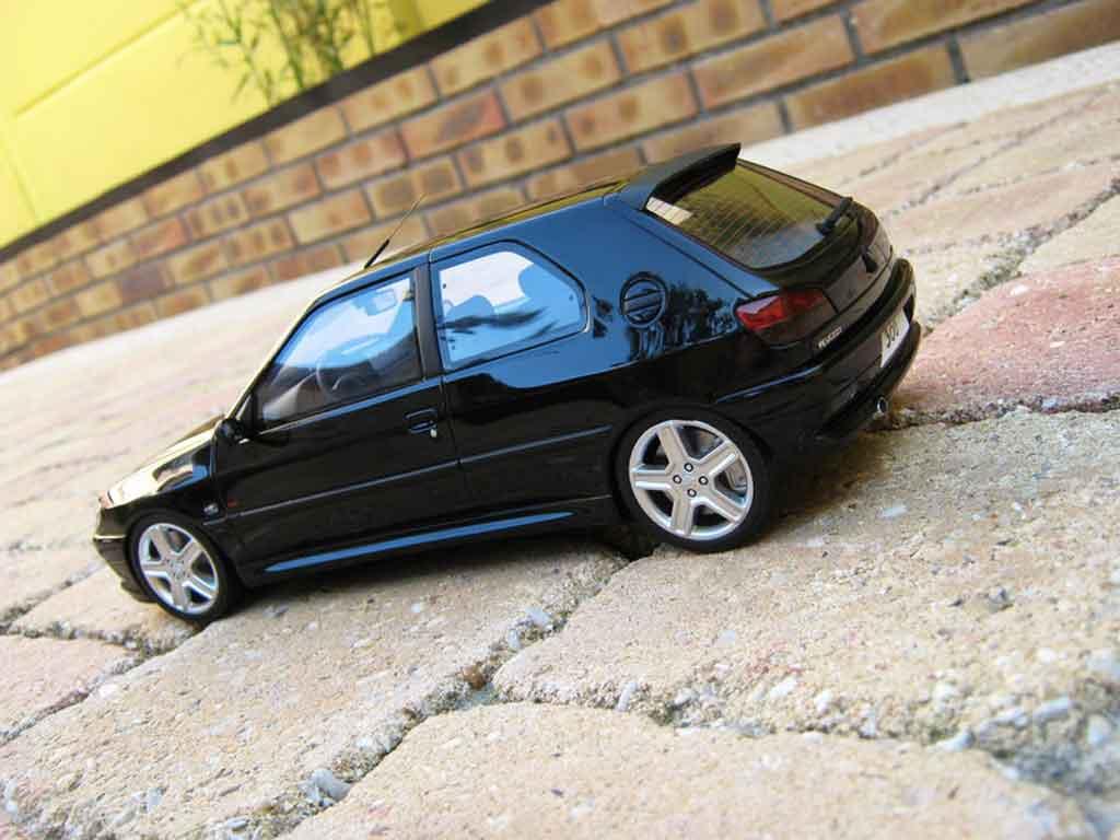 Peugeot 306 S16 1/18 Ottomobile black jantes 206 rc