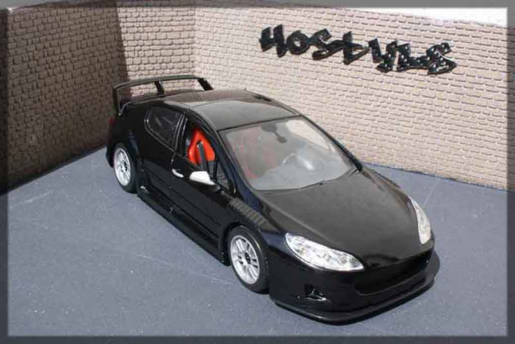 Peugeot 407 Silhouette 1/18 Motormax plain body noir