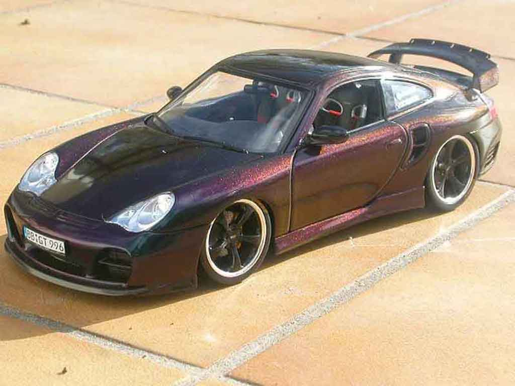 Porsche 996 Turbo techart cameleon tuning Hotworks. Porsche 996 Turbo techart cameleon miniature 1/18