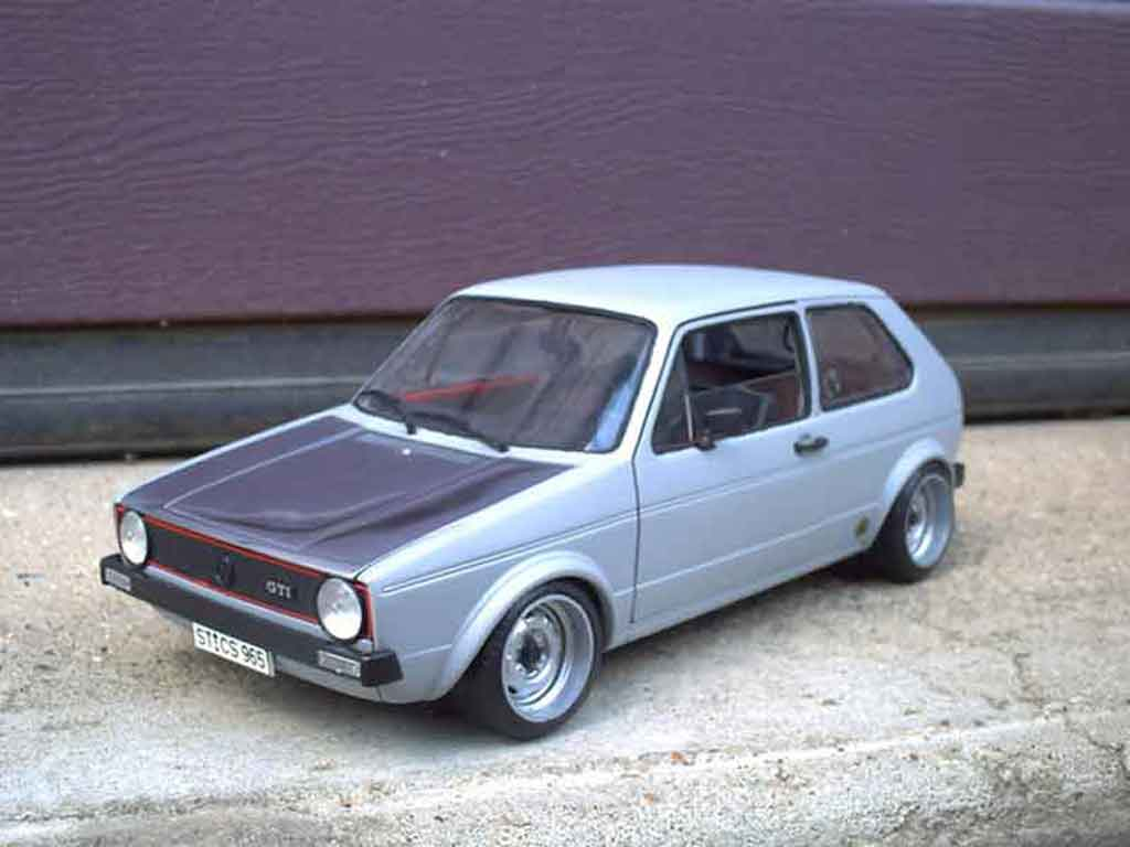 Volkswagen Golf 1 GTI 1/18 Solido jantes toles bords larges capot poli