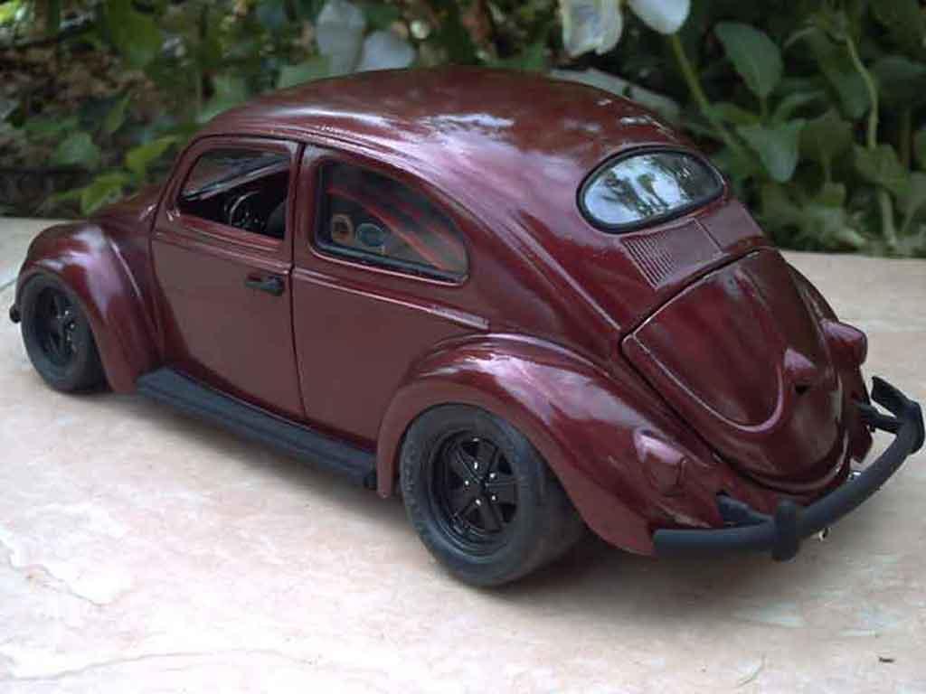 Volkswagen Kafer 1/18 Burago cox jantes fuchs