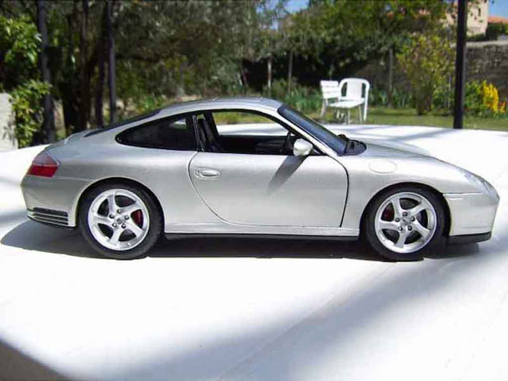 porsche 996 carrera miniature 4s grise maisto 1 18 voiture. Black Bedroom Furniture Sets. Home Design Ideas