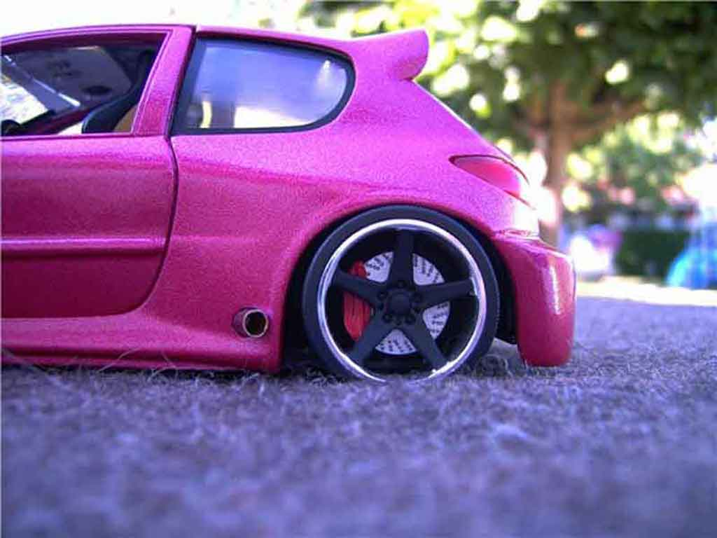 Peugeot 206 wrc kit large tuning solido diecast model car for Peugeot 206 tuning interieur