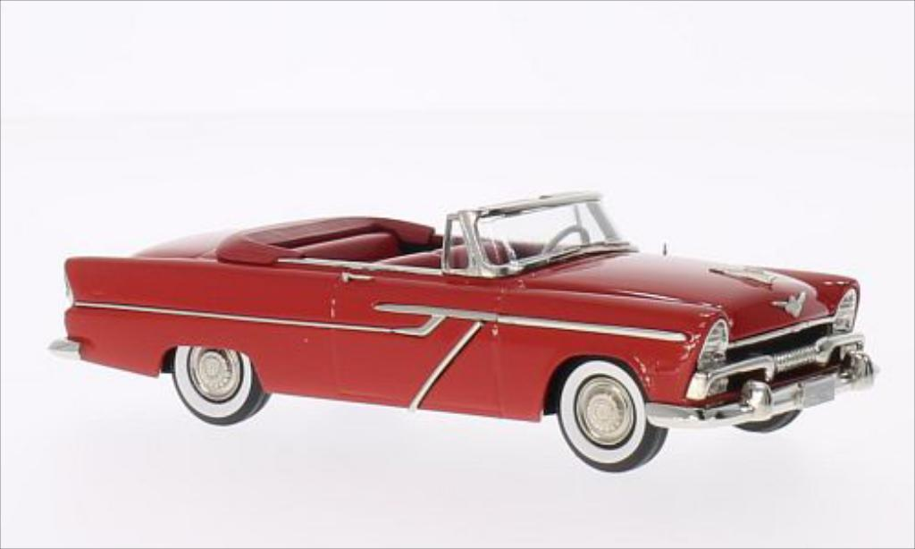 Plymouth Belvedere 1/43 Brooklin Convertible rouge 1955 miniature