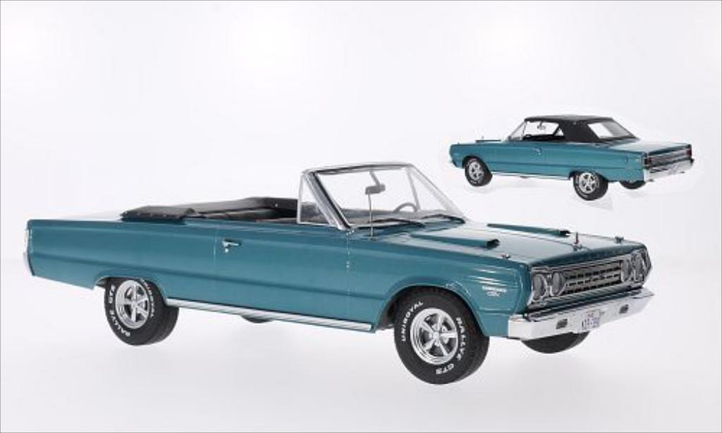 Plymouth Belvedere 1/18 Greenlight GTX Convertible metallic-turquoise 1967 miniature