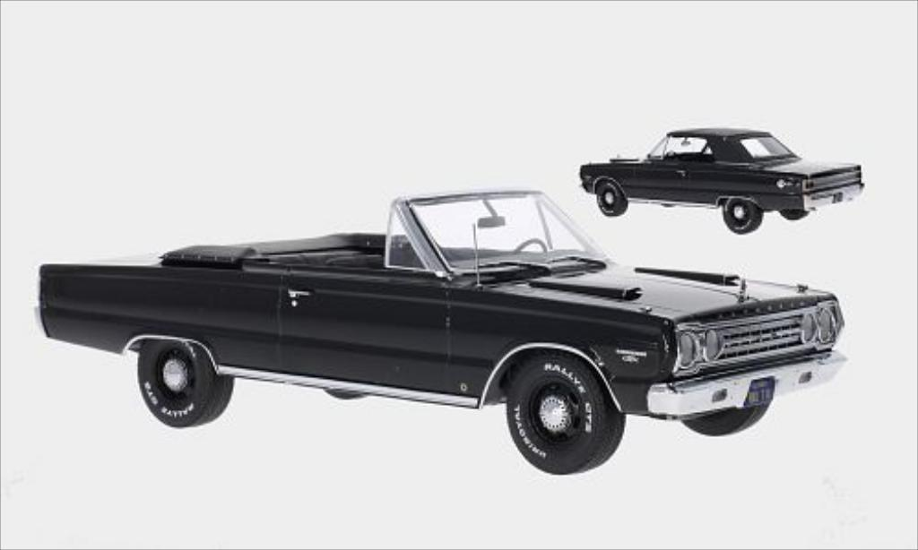 Plymouth Belvedere 1/18 Greenlight GTX Convertible noire 1967 miniature