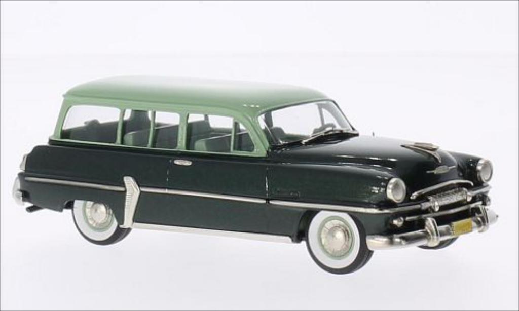 Plymouth Belvedere 1/43 Brooklin Suburban metallic-verte/verte 1954 miniature