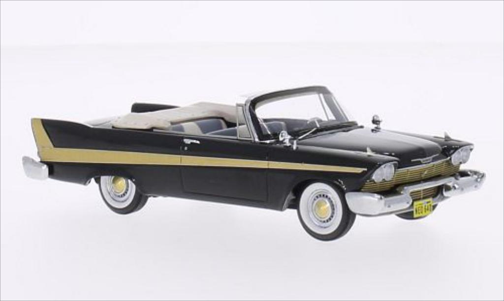 Plymouth Fury Convertible Black 1958 Neo Diecast Model Car