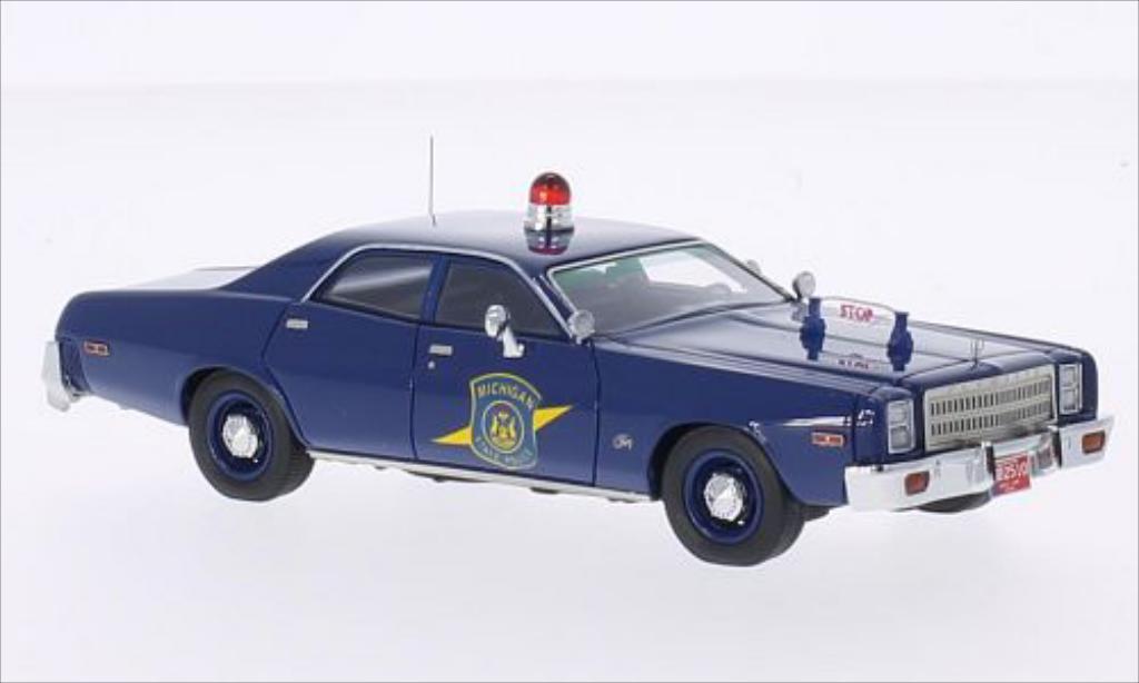 Plymouth Fury 1/43 Neo Michigan State Police 1977 miniature