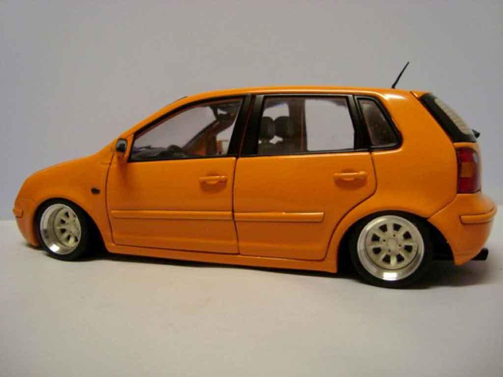 Volkswagen Polo 1/18 Anson 9n orange jantes 13 pouces