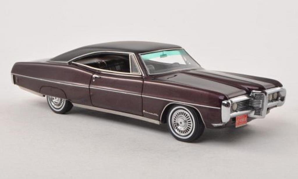 pontiac bonneville miniature hardtop coupe rouge matt noire 1968 neo 1 43 voiture. Black Bedroom Furniture Sets. Home Design Ideas