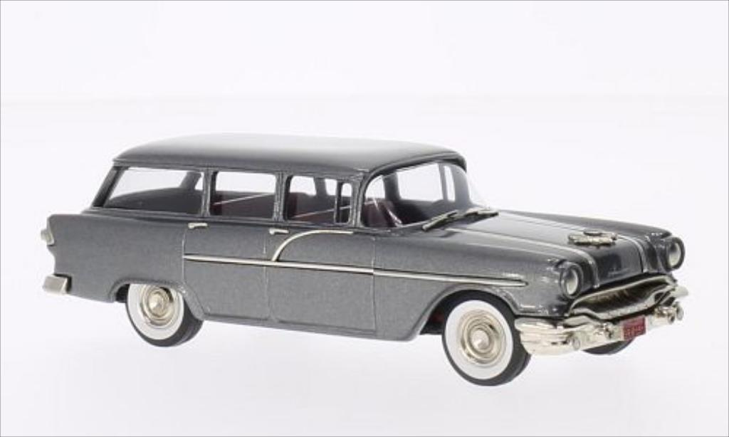 Pontiac Chieftain 1/43 Brooklin 860 Station Wagon metallise grise 1956 miniature
