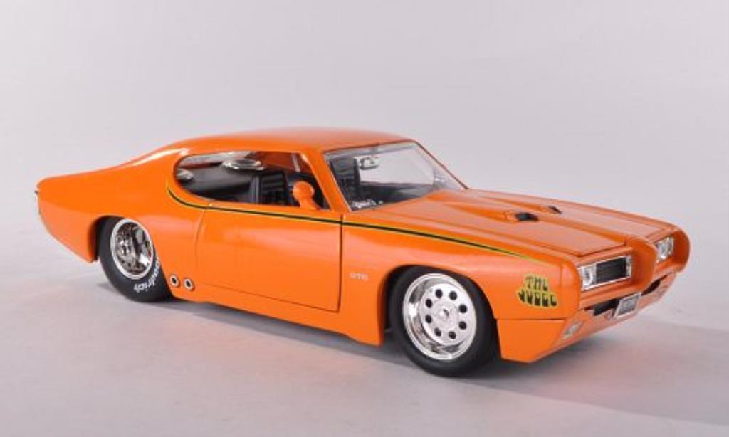 Pontiac GTO 1/24 Jada Toys Judge orange 1969 miniature