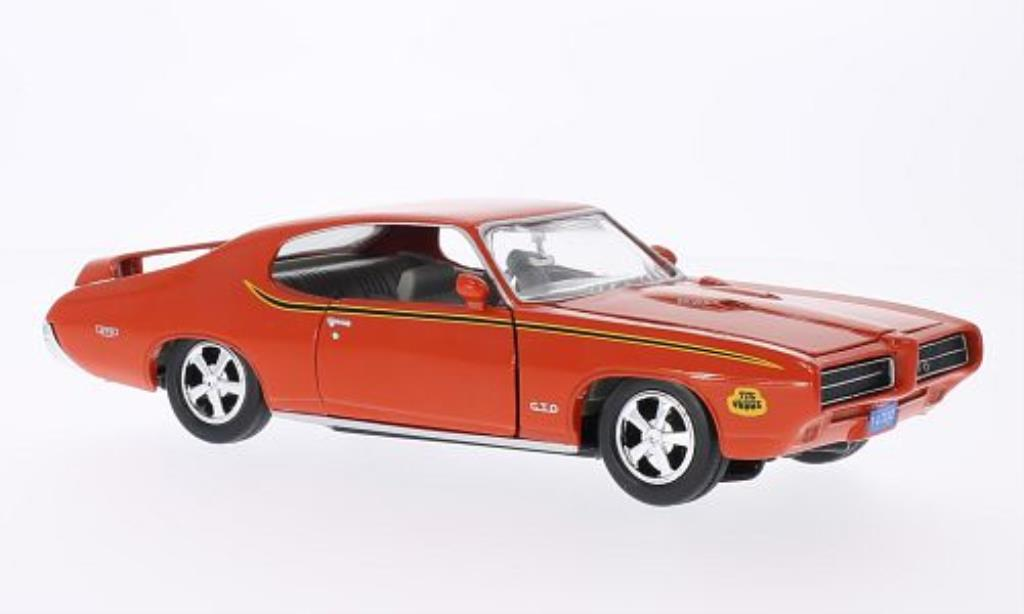 pontiac gto judge orange 1969 motormax modellauto 1 24. Black Bedroom Furniture Sets. Home Design Ideas
