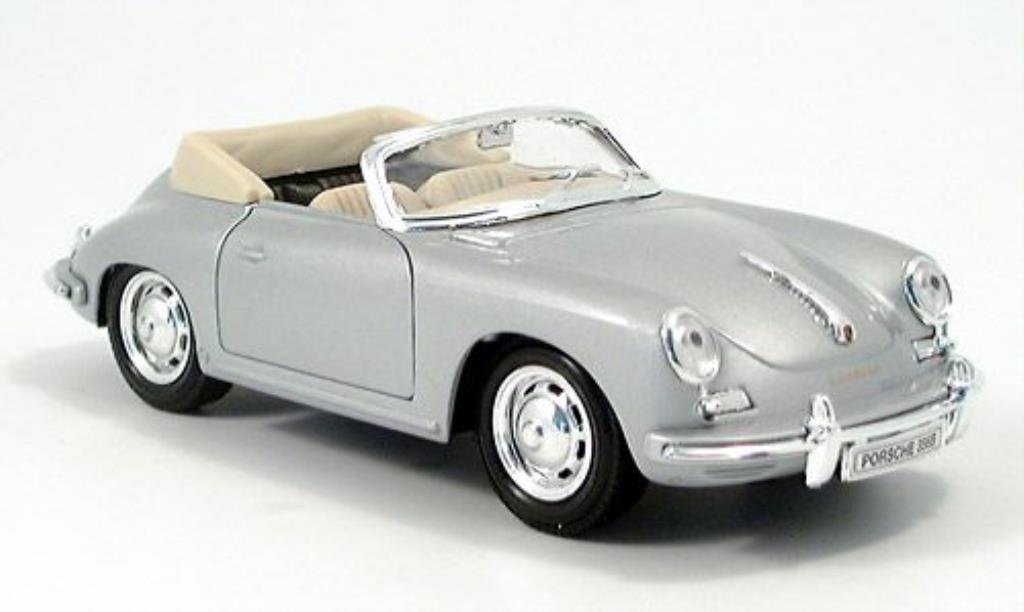 Porsche 356 B 1/24 Welly Cabriolet grise miniature