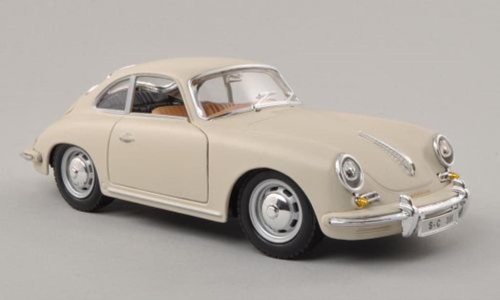 Porsche 356 B 1/24 Burago B matt-beige 1961 coche miniatura