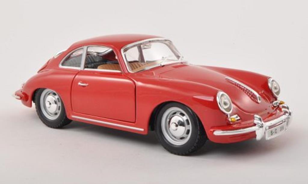 Porsche 356 B 1/24 Burago B red 1961 diecast model cars