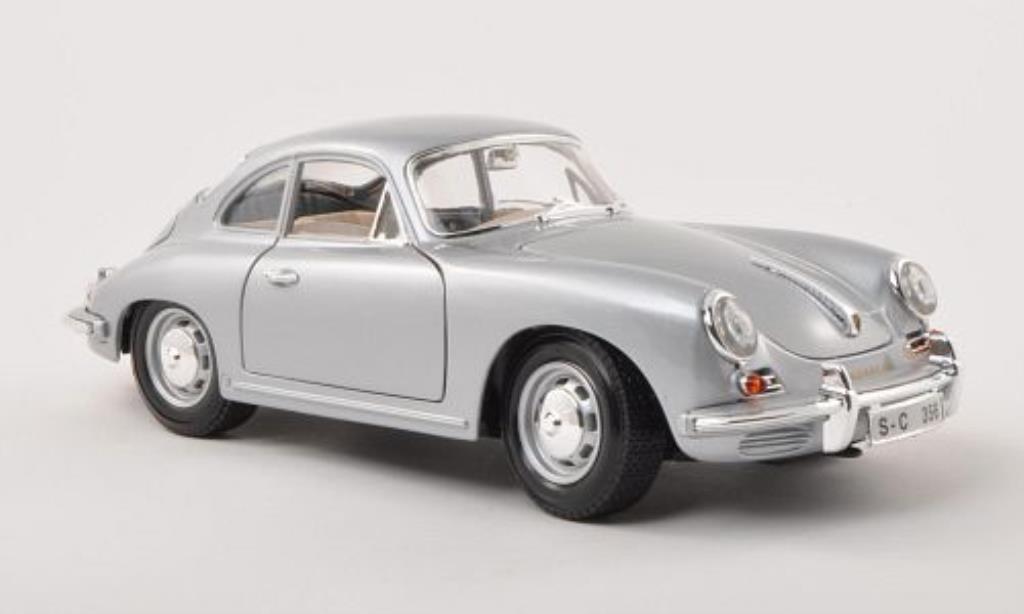 Porsche 356 B 1/18 Burago B grigio 1961 modellino in miniatura